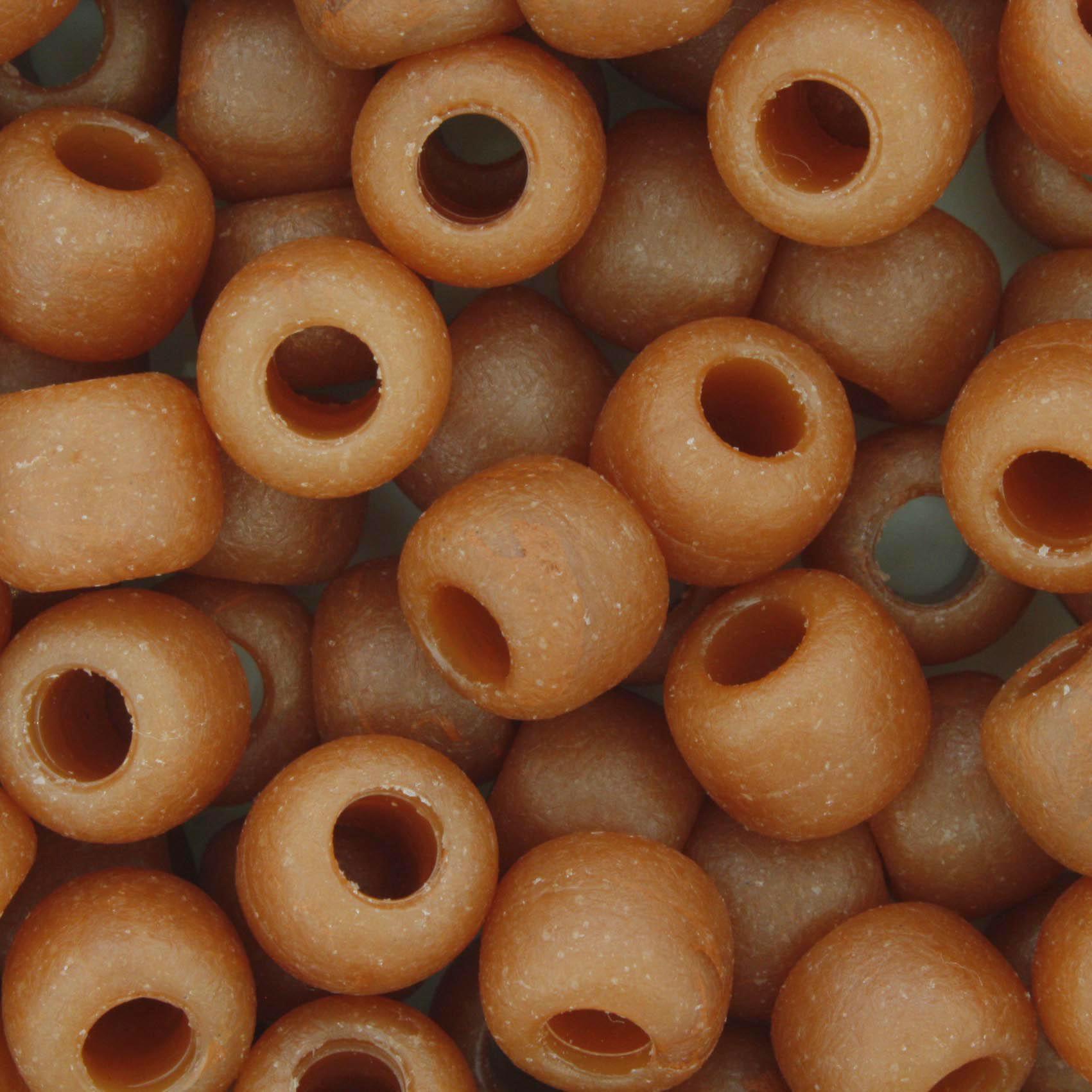 Miçangão Plástico - Caramelo Fosco  - Stéphanie Bijoux® - Peças para Bijuterias e Artesanato
