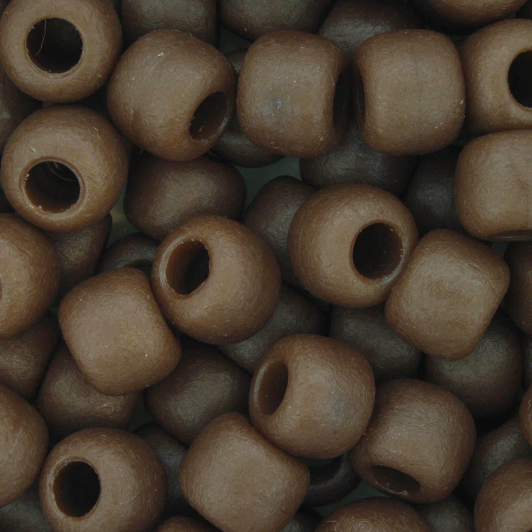 Miçangão Plástico - Marrom Fosco  - Stéphanie Bijoux® - Peças para Bijuterias e Artesanato