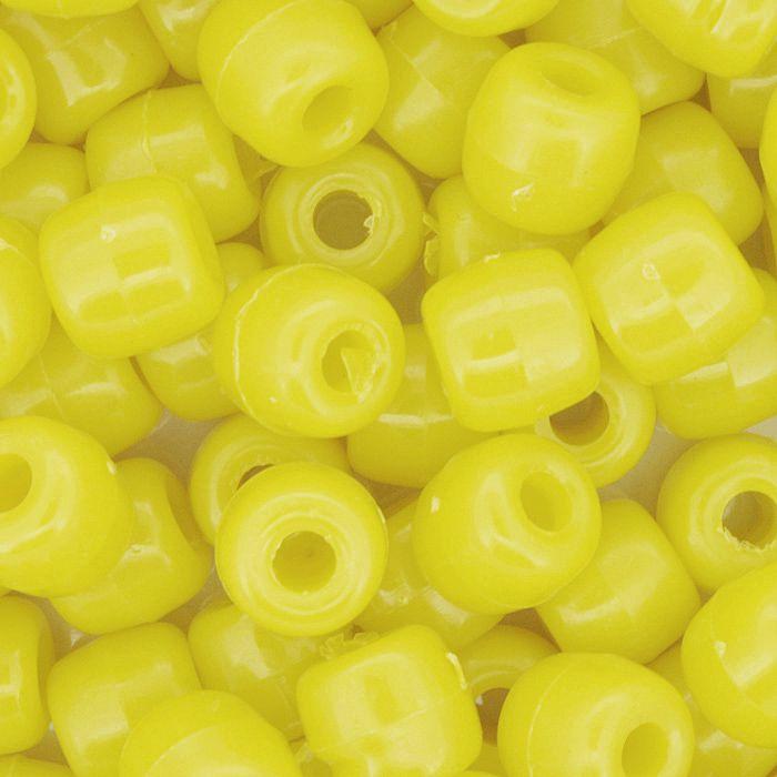 Miçangão Plástico - Tererê® - Amarelo  - Stéphanie Bijoux® - Peças para Bijuterias e Artesanato