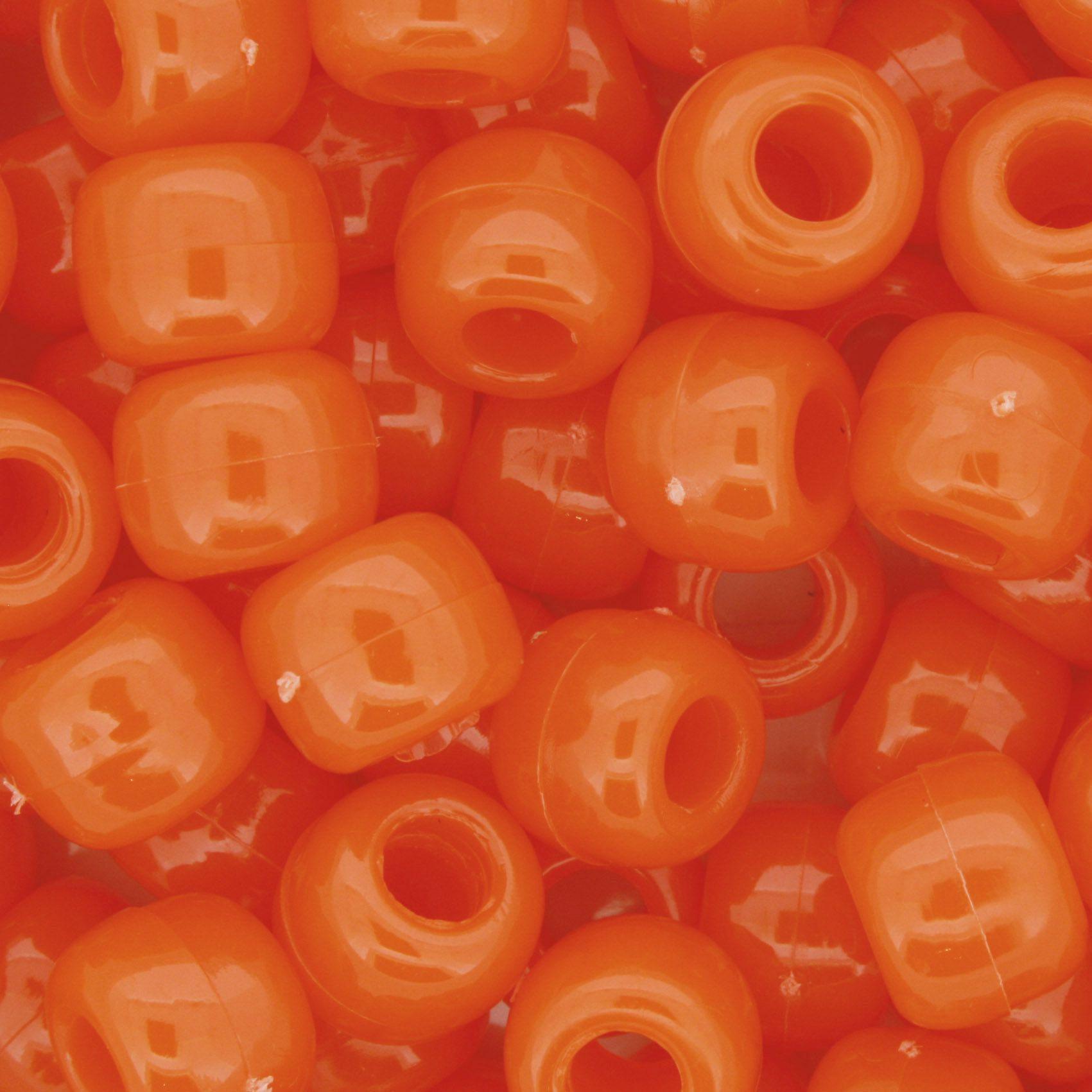 Miçangão Plástico - Tererê® - Laranja Neon  - Stéphanie Bijoux® - Peças para Bijuterias e Artesanato