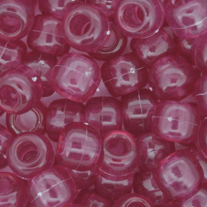 Miçangão Plástico - Tererê® - Rosa Transparente  - Stéphanie Bijoux® - Peças para Bijuterias e Artesanato