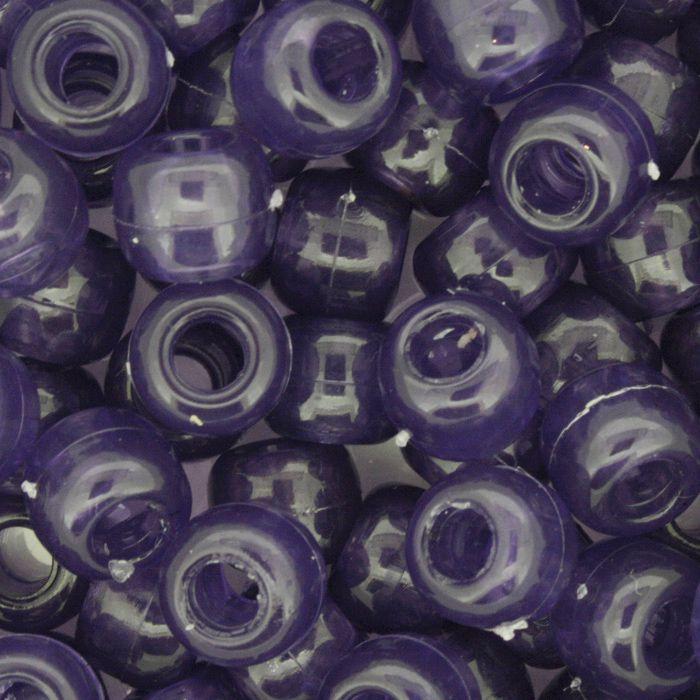 Miçangão Plástico - Tererê® - Roxo Transparente  - Stéphanie Bijoux® - Peças para Bijuterias e Artesanato