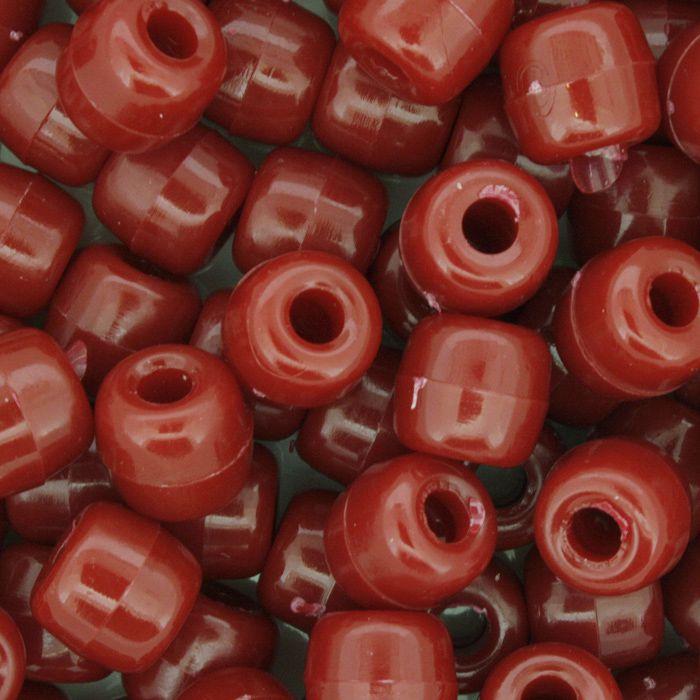 Miçangão Plástico - Tererê® - Vermelho  - Stéphanie Bijoux® - Peças para Bijuterias e Artesanato