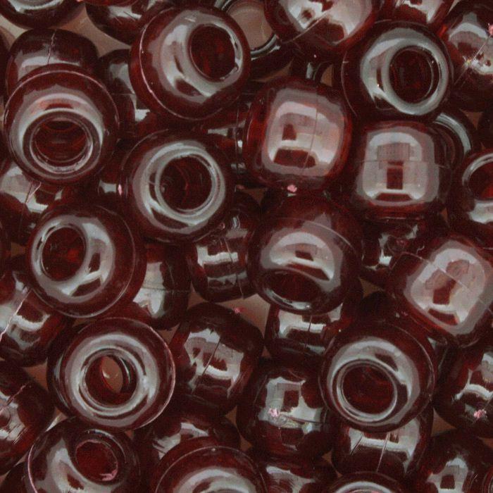 Miçangão Plástico - Tererê® - Vermelho Transparente  - Stéphanie Bijoux® - Peças para Bijuterias e Artesanato