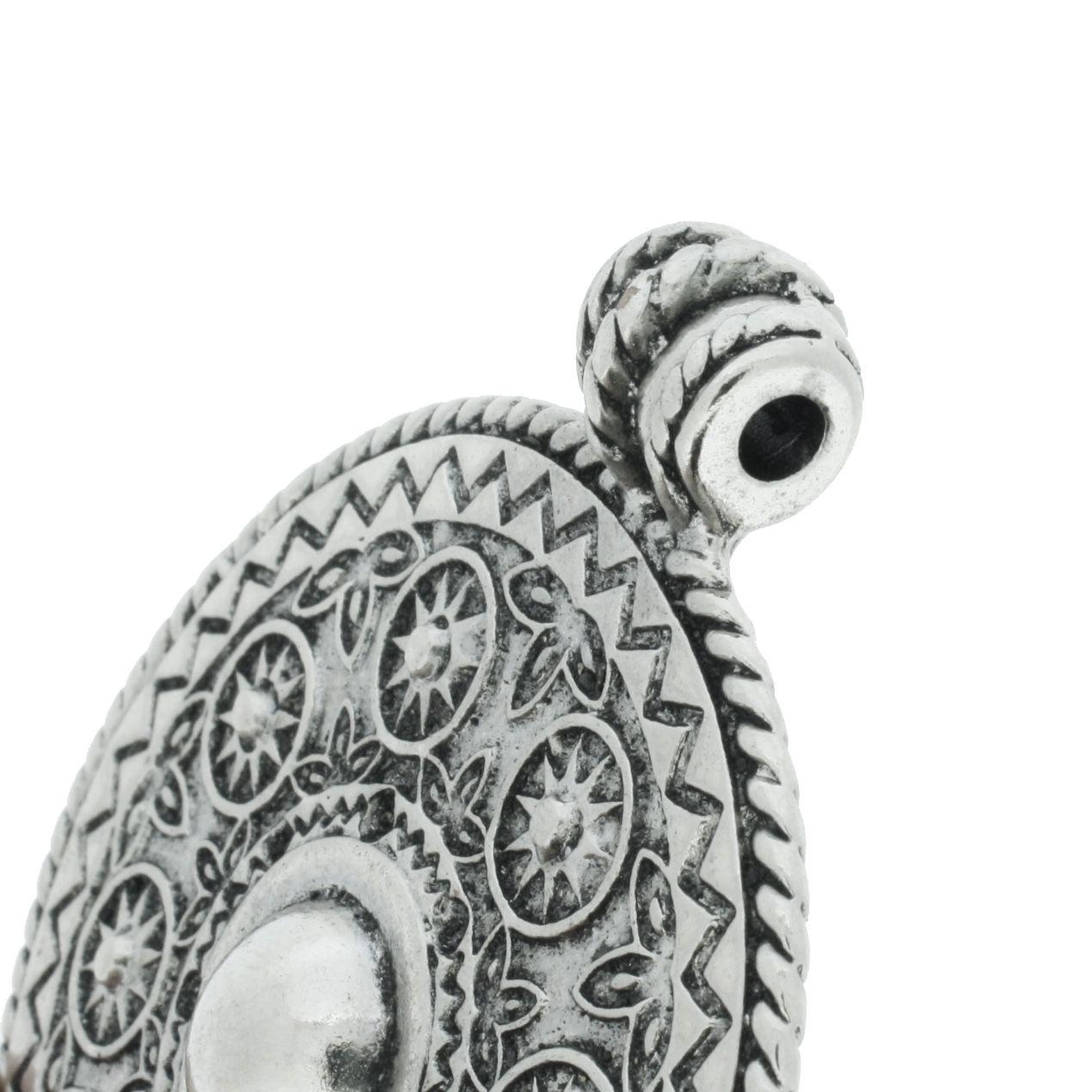 Mandala - Níquel Velho - 86mm  - Stéphanie Bijoux® - Peças para Bijuterias e Artesanato
