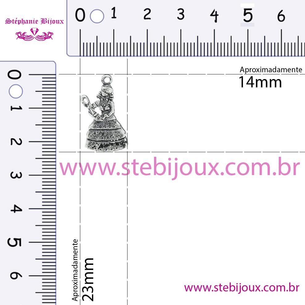 Nanã - Níquel Velho - 23mm  - Stéphanie Bijoux® - Peças para Bijuterias e Artesanato
