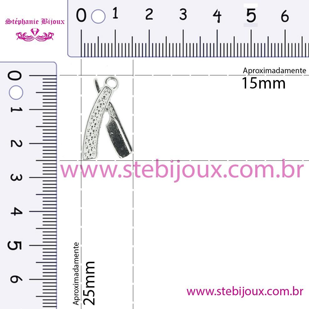 Navalha - Níquel - 25mm  - Stéphanie Bijoux® - Peças para Bijuterias e Artesanato