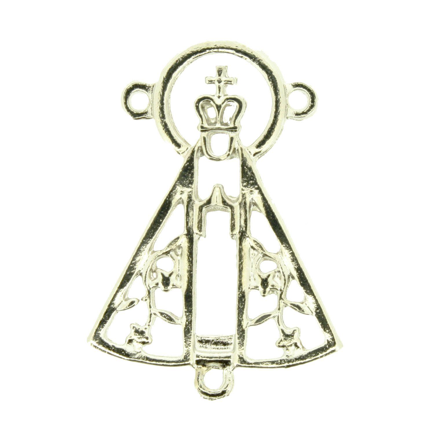 Nossa Senhora Aparecida - Níquel - 36mm  - Stéphanie Bijoux® - Peças para Bijuterias e Artesanato