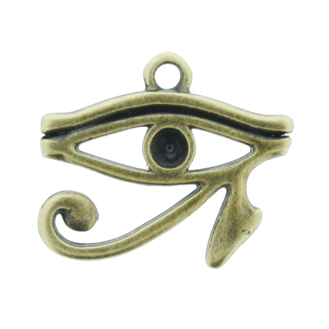 Olho de Horus - Ouro Velho - 22mm  - Stéphanie Bijoux® - Peças para Bijuterias e Artesanato
