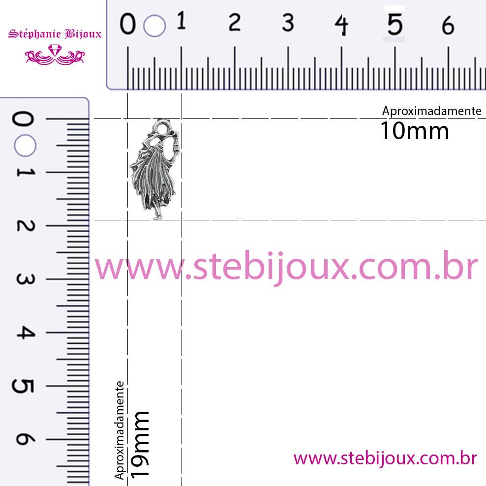 Omulu - Níquel Velho - 19mm  - Stéphanie Bijoux® - Peças para Bijuterias e Artesanato
