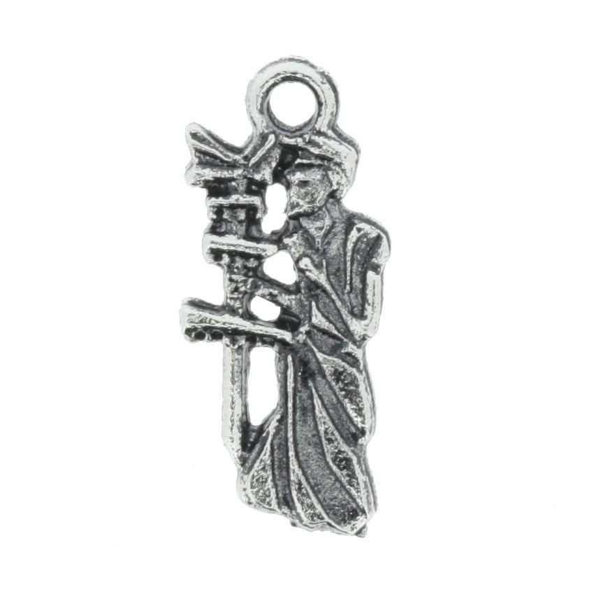Oxalá - Níquel Velho - 19mm  - Stéphanie Bijoux® - Peças para Bijuterias e Artesanato