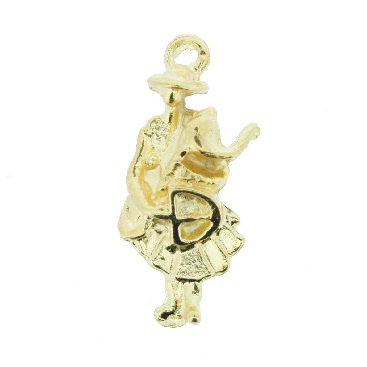 Oxóssi - Dourada - 22mm  - Stéphanie Bijoux® - Peças para Bijuterias e Artesanato