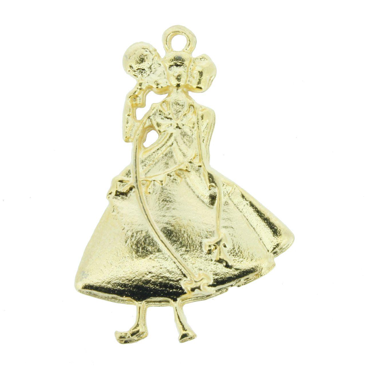 Oxum - Dourado - 32mm  - Stéphanie Bijoux® - Peças para Bijuterias e Artesanato