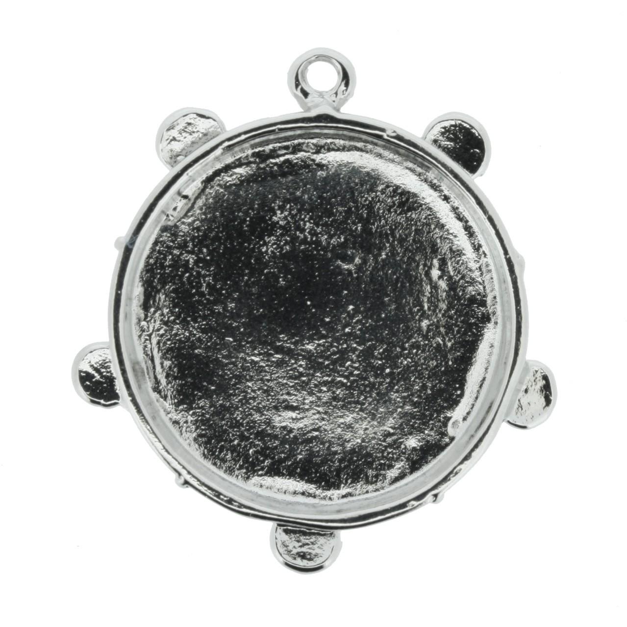 Pandeiro - Níquel - 35mm  - Stéphanie Bijoux® - Peças para Bijuterias e Artesanato