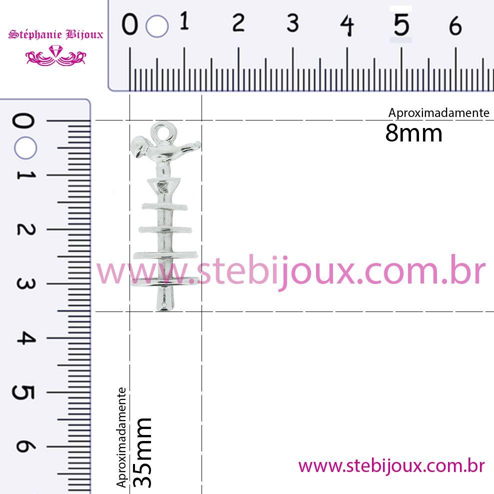 Patchoró - Níquel - 35mm  - Stéphanie Bijoux® - Peças para Bijuterias e Artesanato