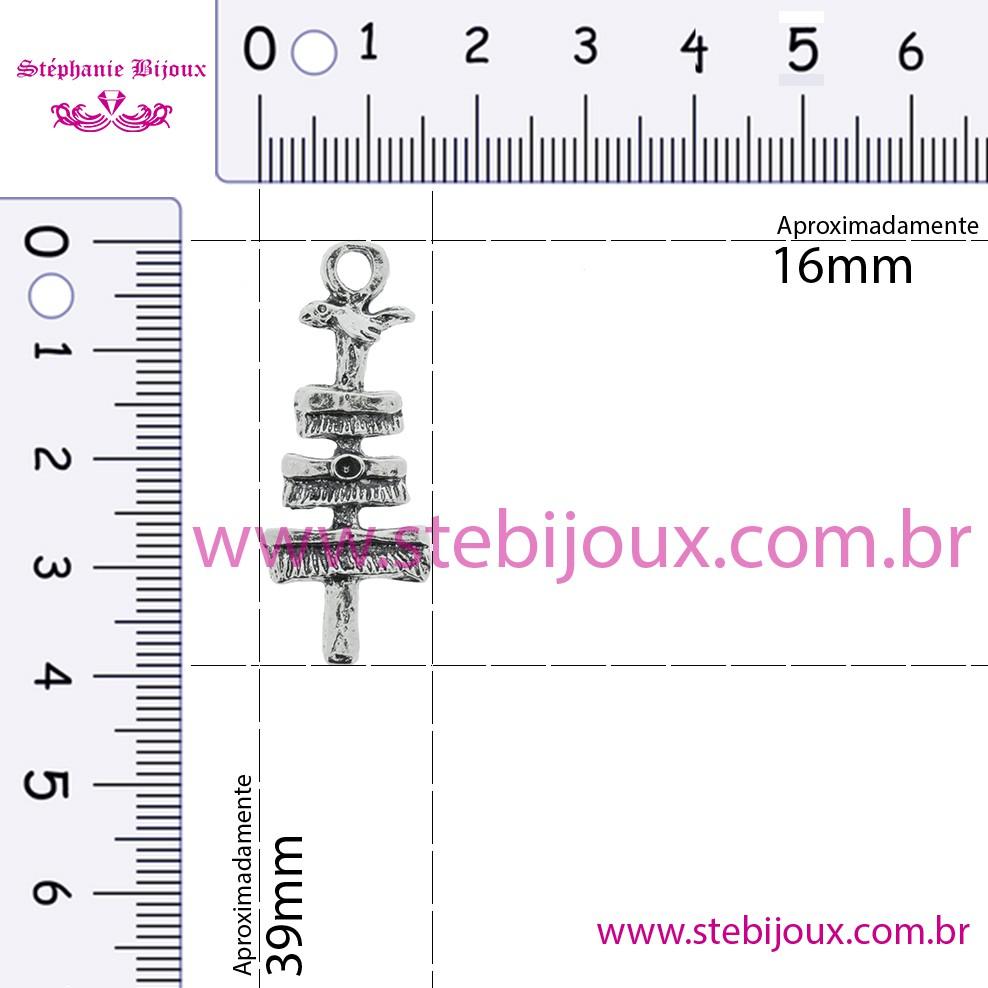 Patchoró Oxalá - Níquel Velho - 39mm  - Stéphanie Bijoux® - Peças para Bijuterias e Artesanato