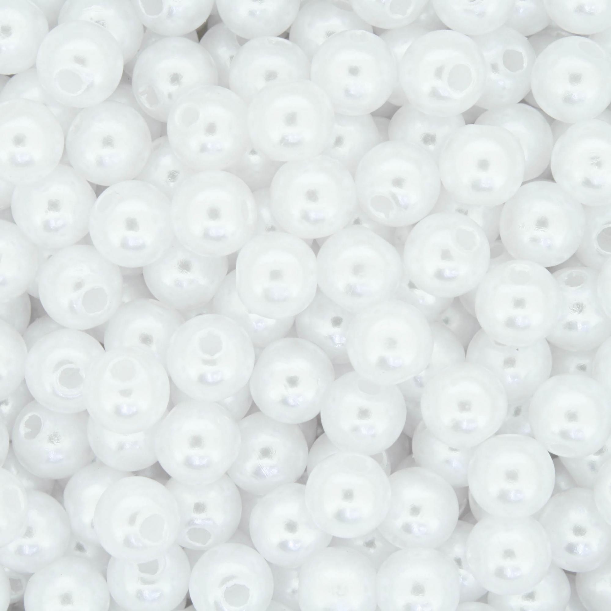 Pérola - Branca - 6mm  - Stéphanie Bijoux® - Peças para Bijuterias e Artesanato