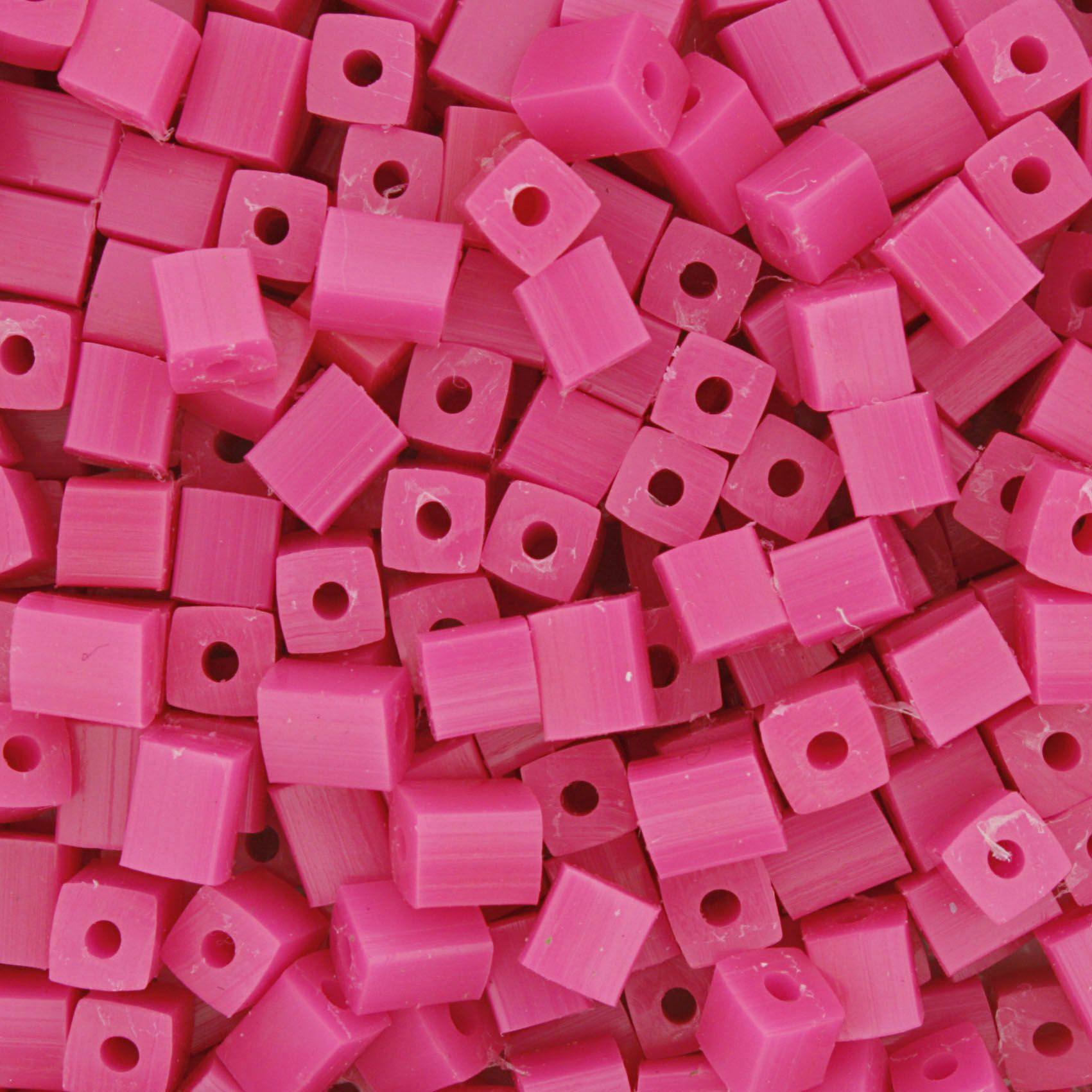 Quadradinho - Pink Neon - 5mm  - Stéphanie Bijoux® - Peças para Bijuterias e Artesanato