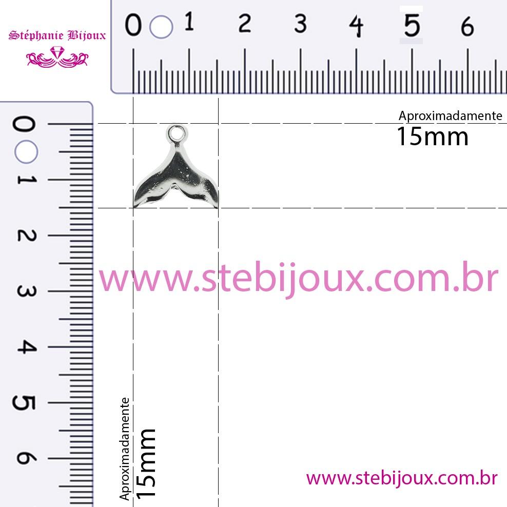 Rabo de Sereia - Níquel - 15mm  - Stéphanie Bijoux® - Peças para Bijuterias e Artesanato
