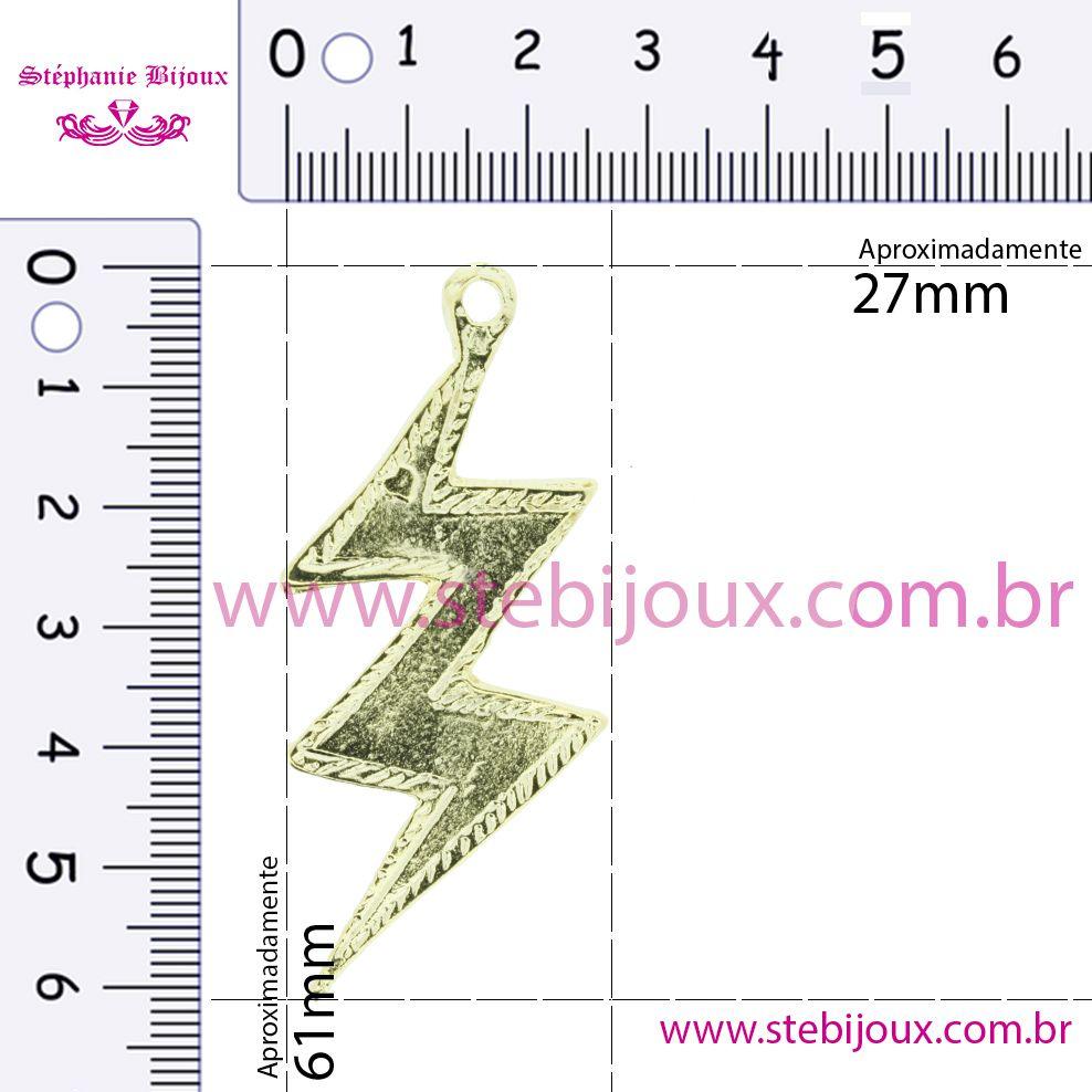 Raio - Dourado - 61mm  - Stéphanie Bijoux® - Peças para Bijuterias e Artesanato