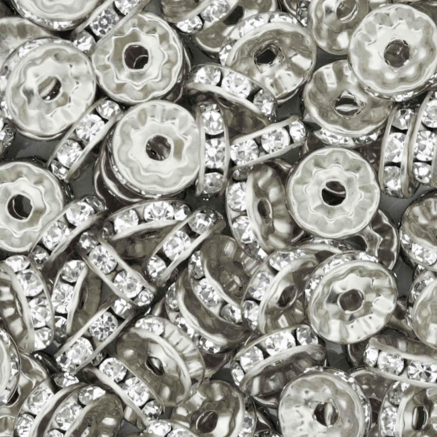 Rondela de Strass - Níquel - 10mm  - Stéphanie Bijoux® - Peças para Bijuterias e Artesanato