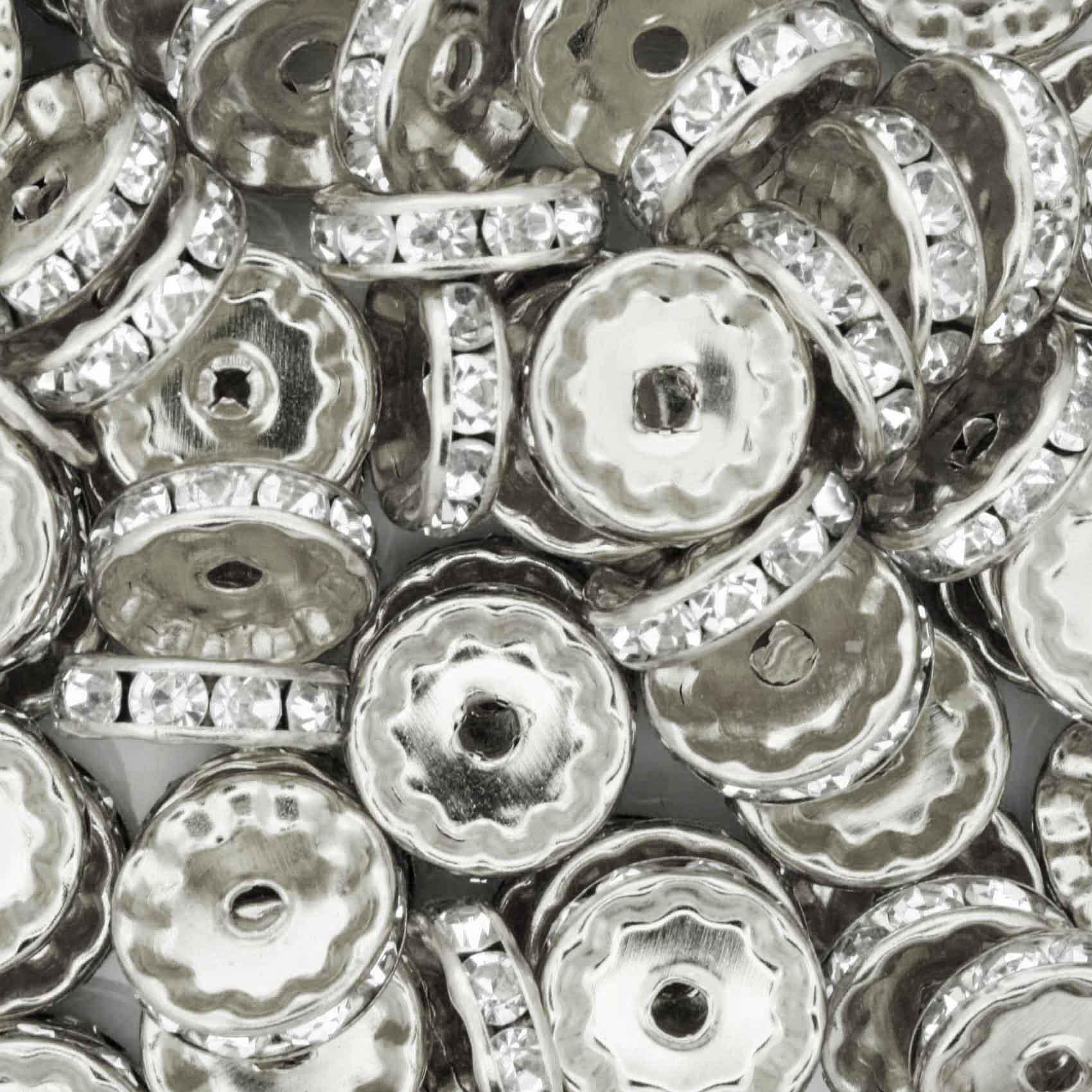Rondela de Strass - Níquel - 12mm  - Stéphanie Bijoux® - Peças para Bijuterias e Artesanato