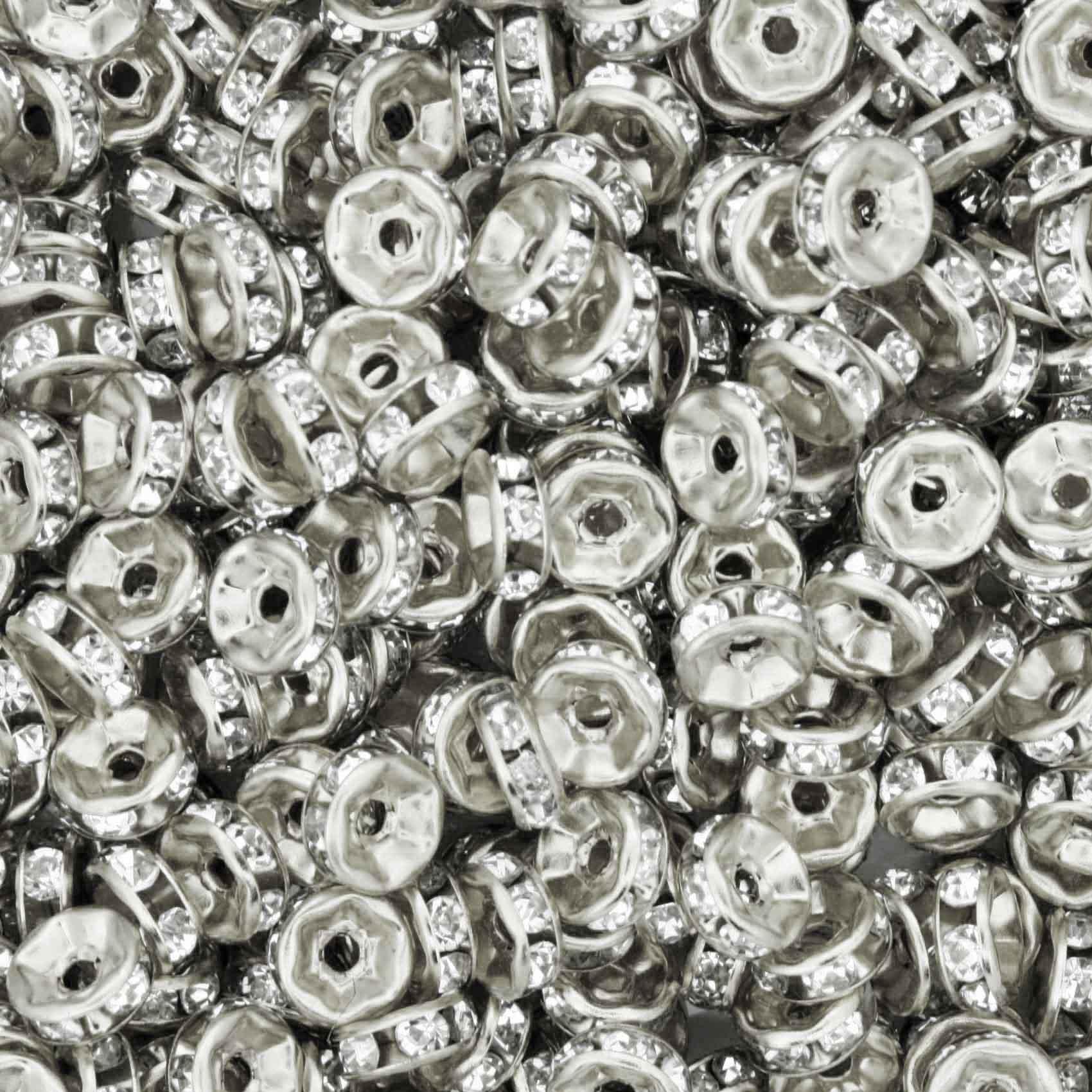 Rondela de Strass - Níquel - 6mm  - Stéphanie Bijoux® - Peças para Bijuterias e Artesanato