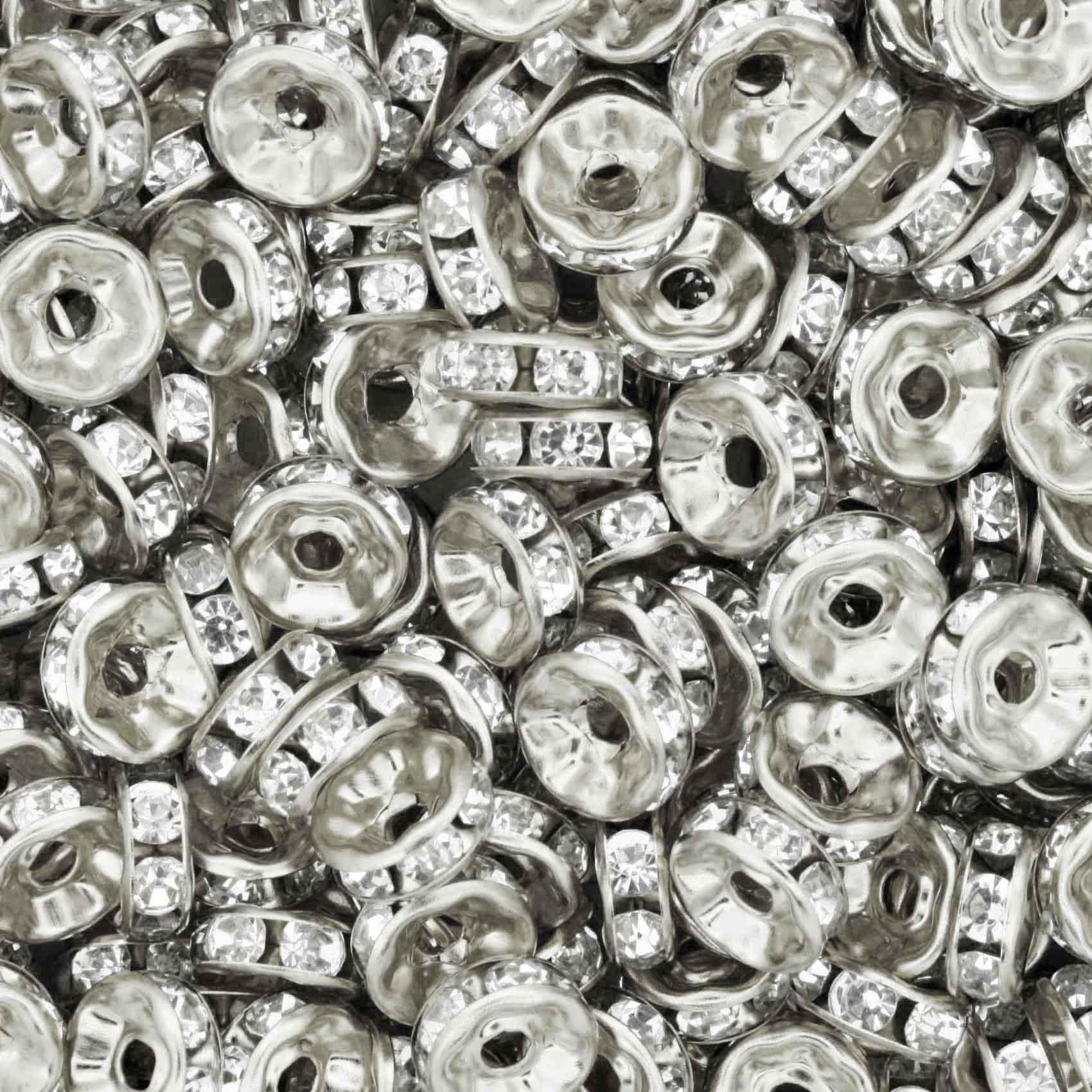 Rondela de Strass - Níquel - 8mm  - Stéphanie Bijoux® - Peças para Bijuterias e Artesanato