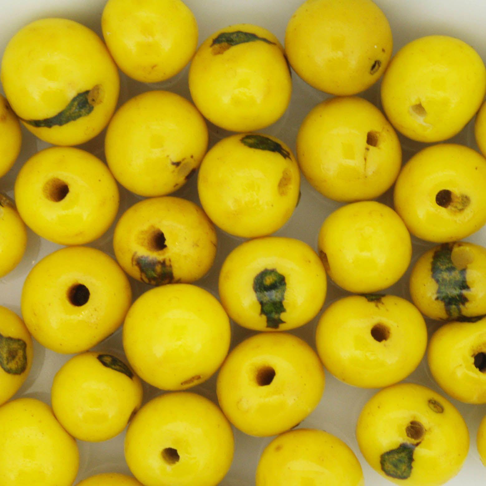 Semente de Açai - Amarela  - Stéphanie Bijoux® - Peças para Bijuterias e Artesanato