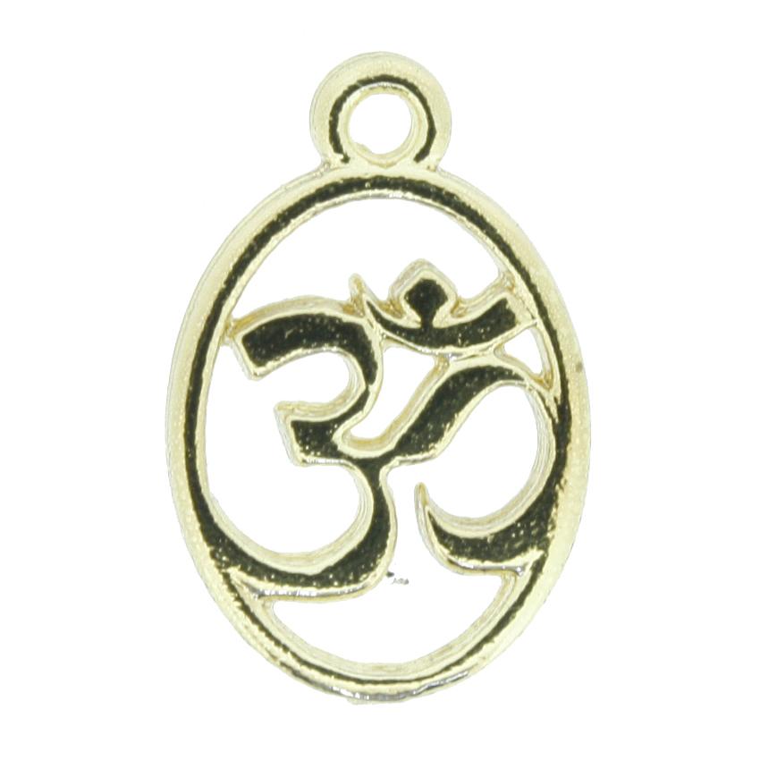 Simbolo Om - Dourado - 20mm  - Stéphanie Bijoux® - Peças para Bijuterias e Artesanato