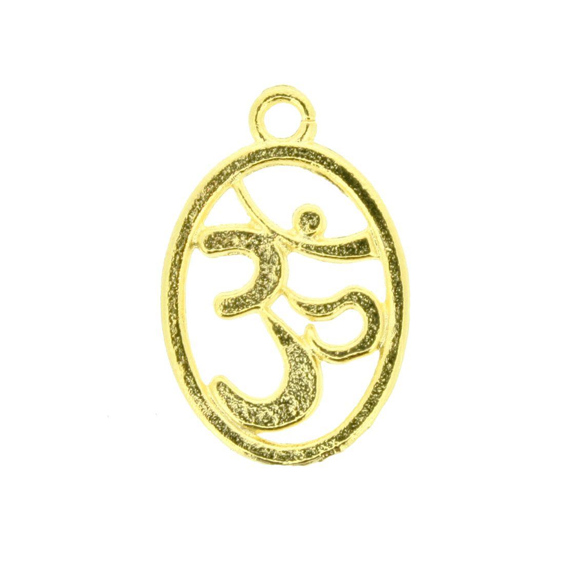 Simbolo Om - Dourado - 21mm  - Stéphanie Bijoux® - Peças para Bijuterias e Artesanato
