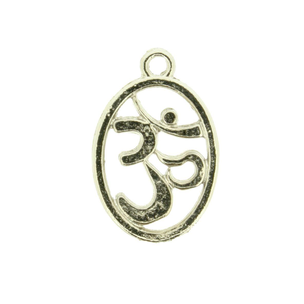 Simbolo Om - Níquel - 21mm  - Stéphanie Bijoux® - Peças para Bijuterias e Artesanato