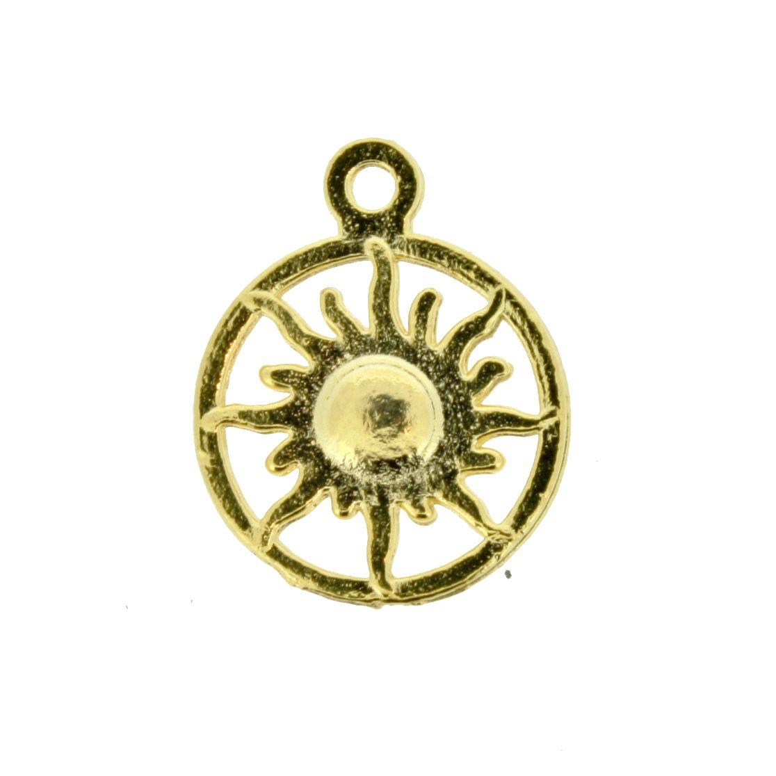 Sol - Dourado - 20mm  - Stéphanie Bijoux® - Peças para Bijuterias e Artesanato