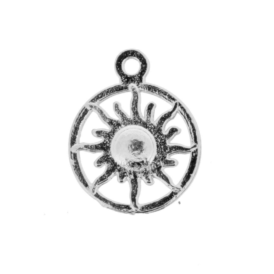 Sol - Níquel - 20mm  - Stéphanie Bijoux® - Peças para Bijuterias e Artesanato