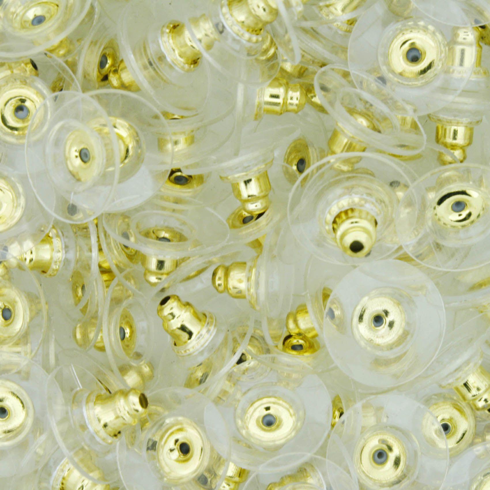 Tarraxa - Soutien de Orelha - Dourada  - Stéphanie Bijoux® - Peças para Bijuterias e Artesanato