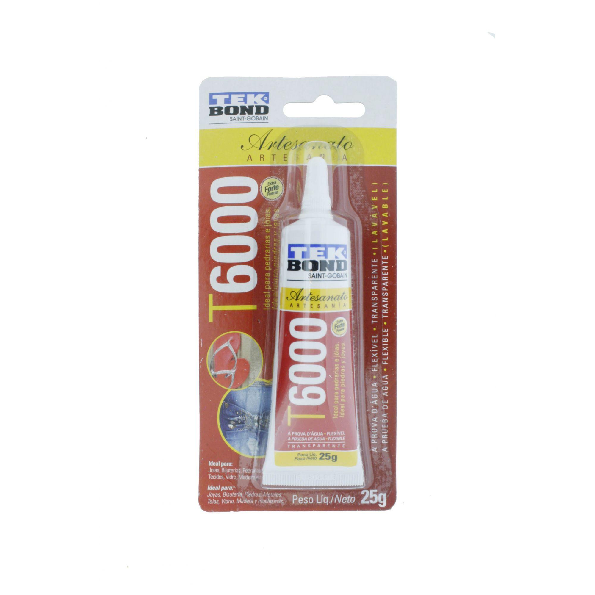 TekBond® T6000 - Artesanato - 25g   - Stéphanie Bijoux® - Peças para Bijuterias e Artesanato