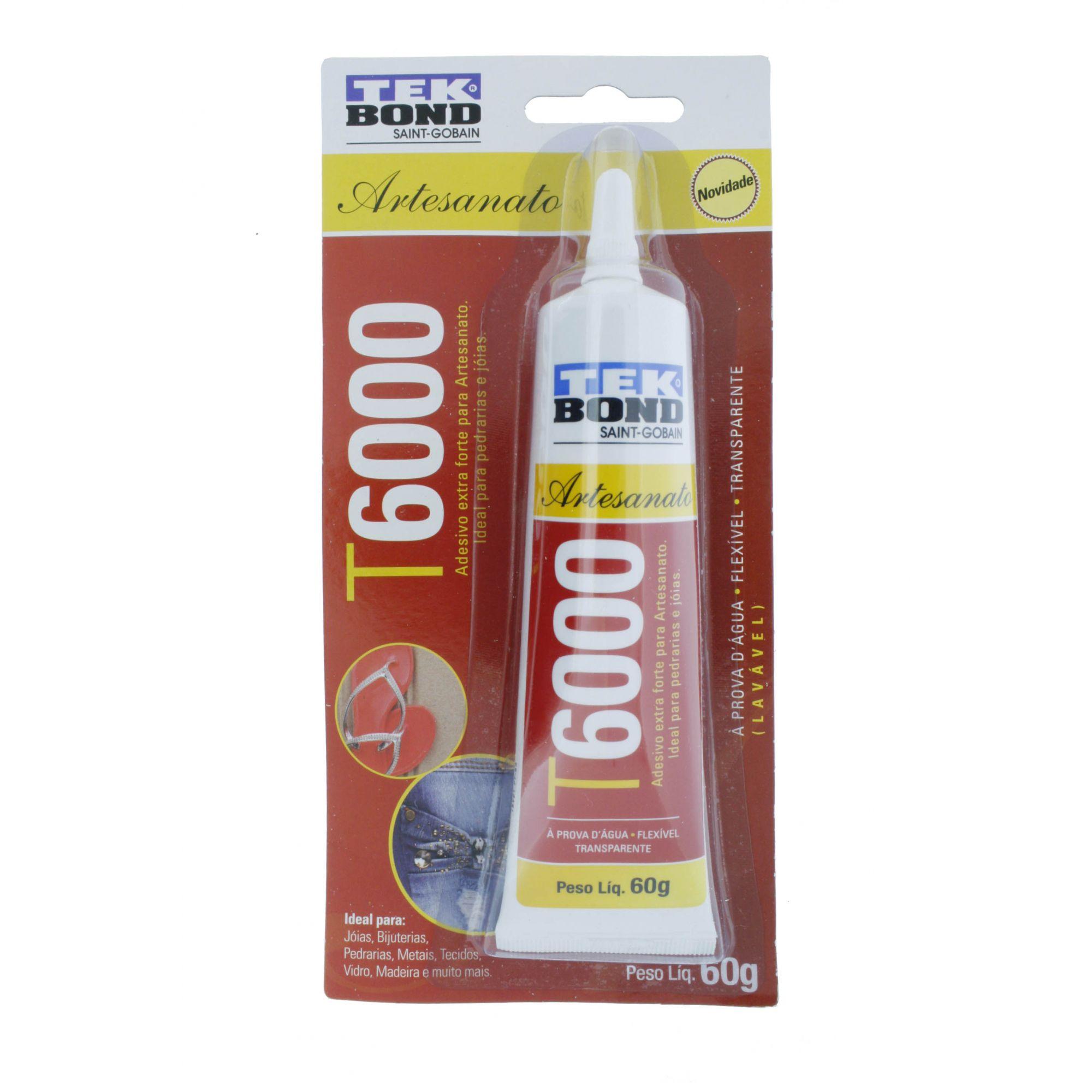 TekBond® T6000 - Artesanato - 60g   - Stéphanie Bijoux® - Peças para Bijuterias e Artesanato