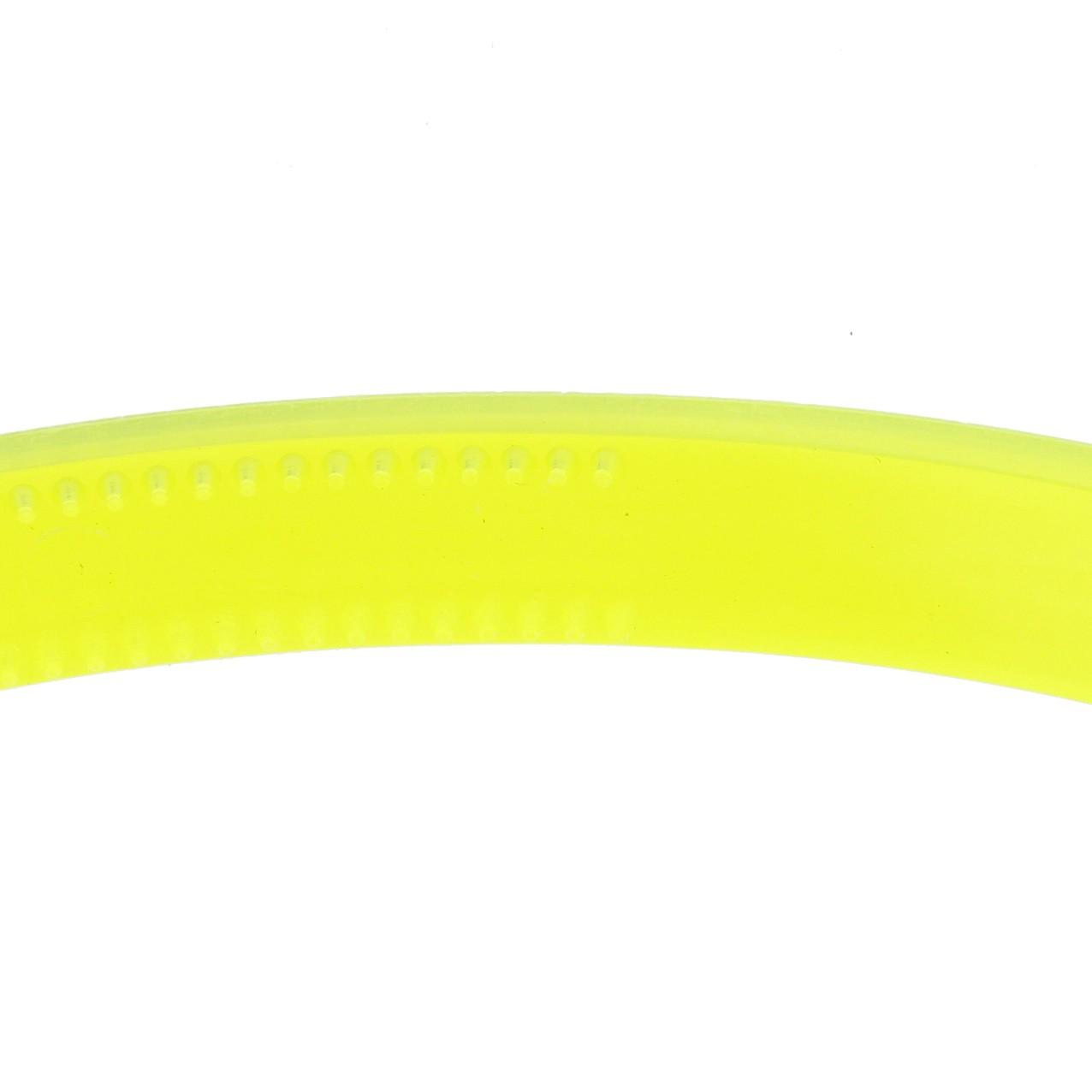 Tiara Plástica com Dentinhos - Amarelo Neon - 10mm  - Stéphanie Bijoux® - Peças para Bijuterias e Artesanato
