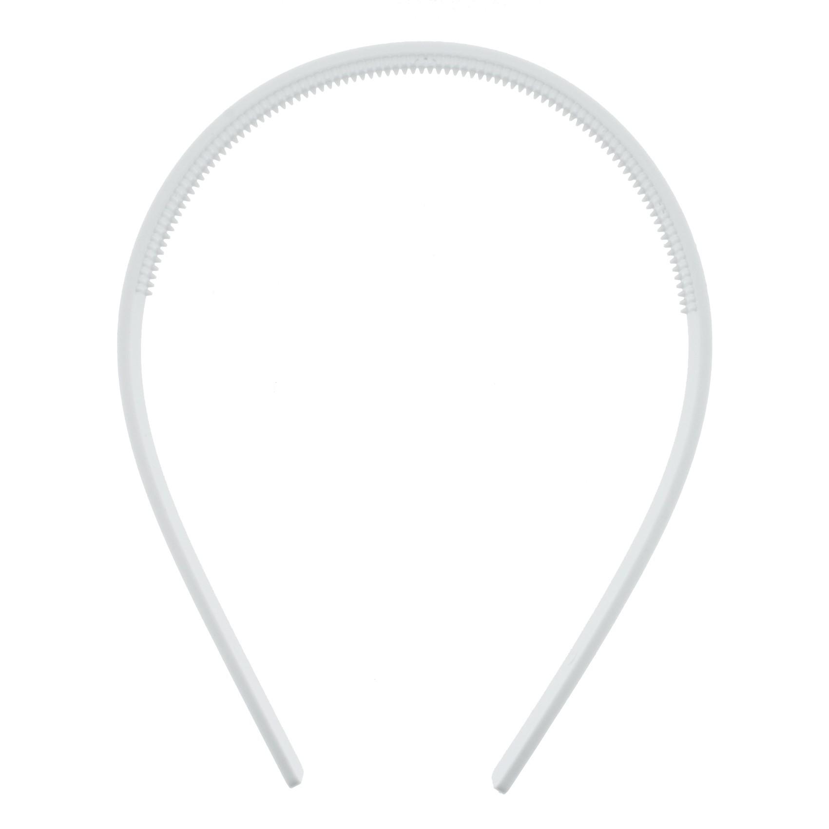 Tiara Plástica com Dentinhos - Branca - 10mm  - Stéphanie Bijoux® - Peças para Bijuterias e Artesanato