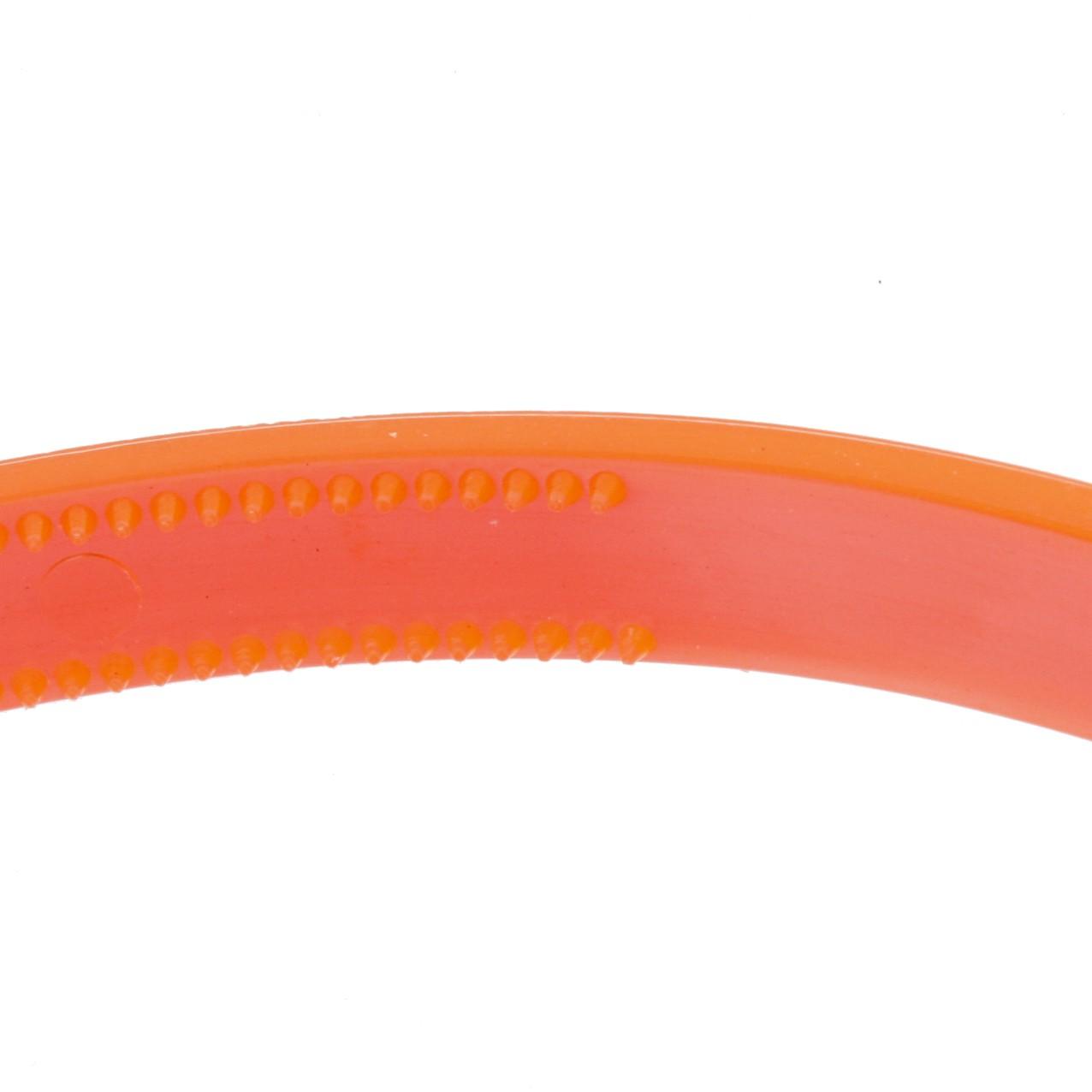Tiara Plástica com Dentinhos - Laranja Neon - 10mm  - Stéphanie Bijoux® - Peças para Bijuterias e Artesanato