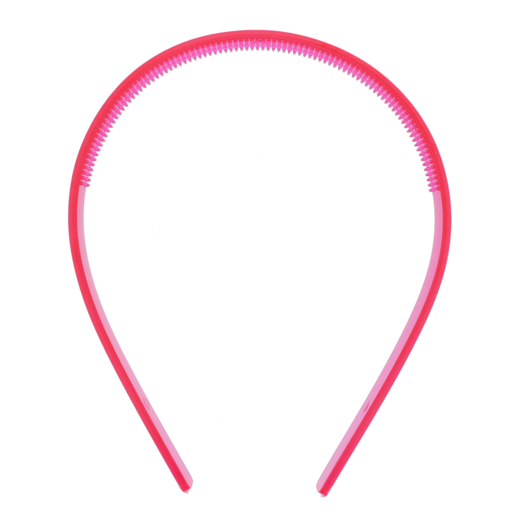 Tiara Plástica com Dentinhos - Pink Neon - 10mm  - Stéphanie Bijoux® - Peças para Bijuterias e Artesanato