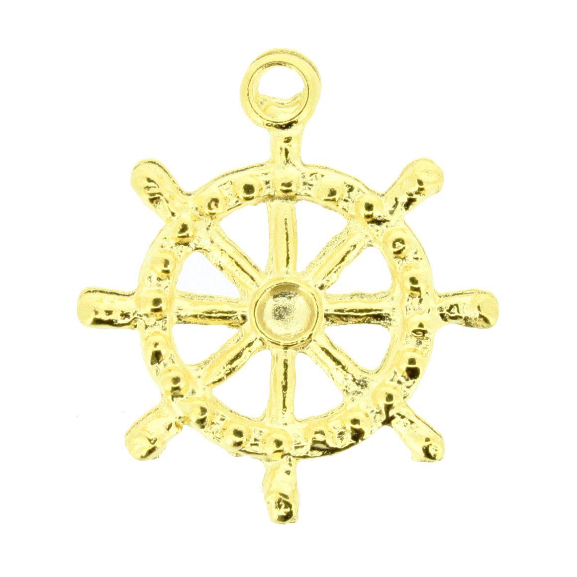 Timão - Dourada - 27mm  - Stéphanie Bijoux® - Peças para Bijuterias e Artesanato