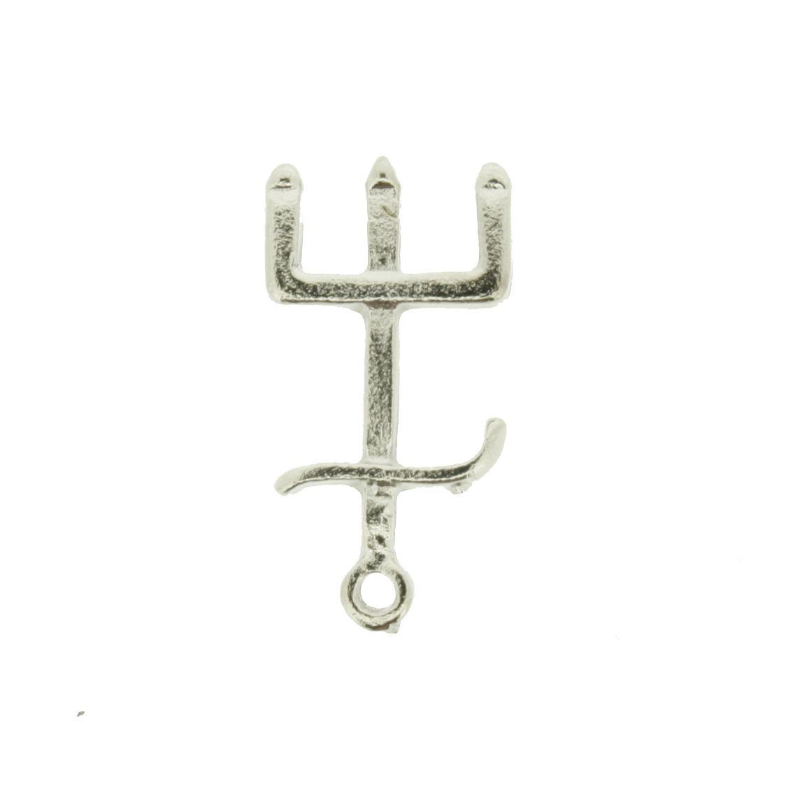 Tridente - Níquel - 19mm - 01 Peça  - Stéphanie Bijoux® - Peças para Bijuterias e Artesanato