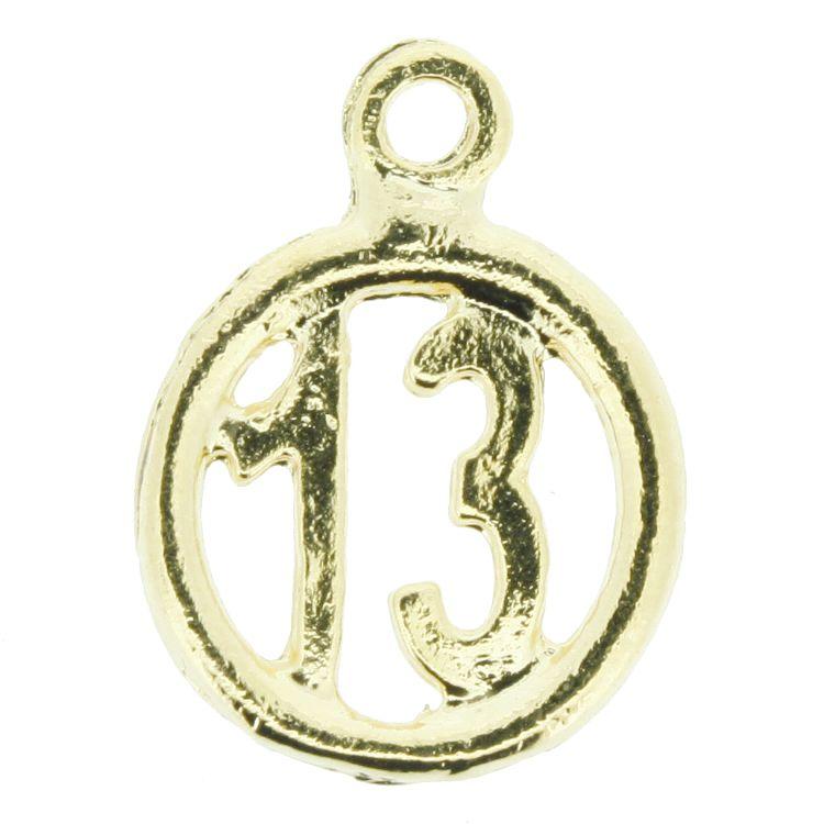 Treze - Dourado - 19mm  - Stéphanie Bijoux® - Peças para Bijuterias e Artesanato