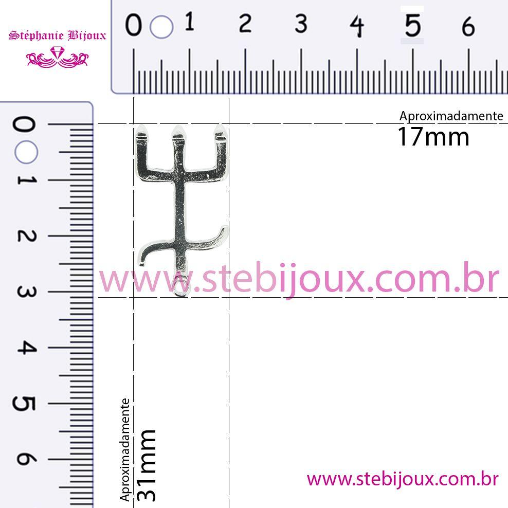 Tridente - Níquel - 31mm  - Stéphanie Bijoux® - Peças para Bijuterias e Artesanato