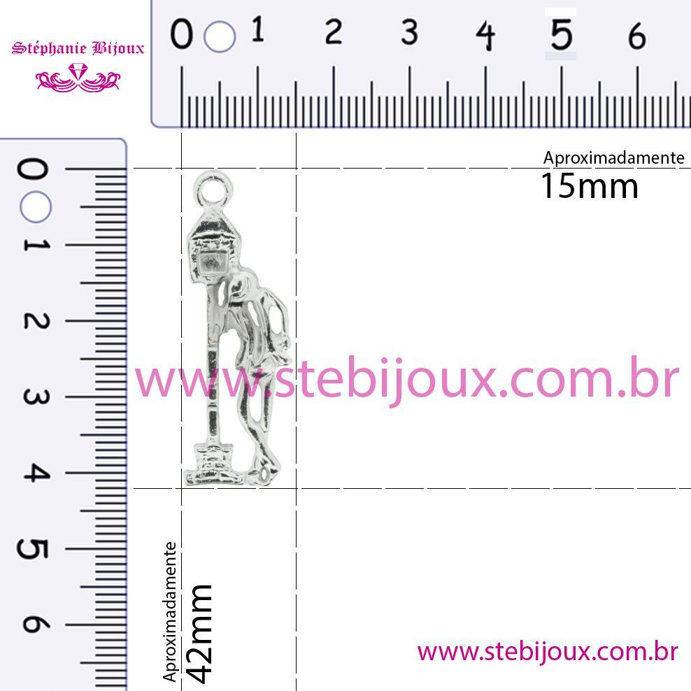 Zé Pilintra - Níquel - 42mm  - Stéphanie Bijoux® - Peças para Bijuterias e Artesanato