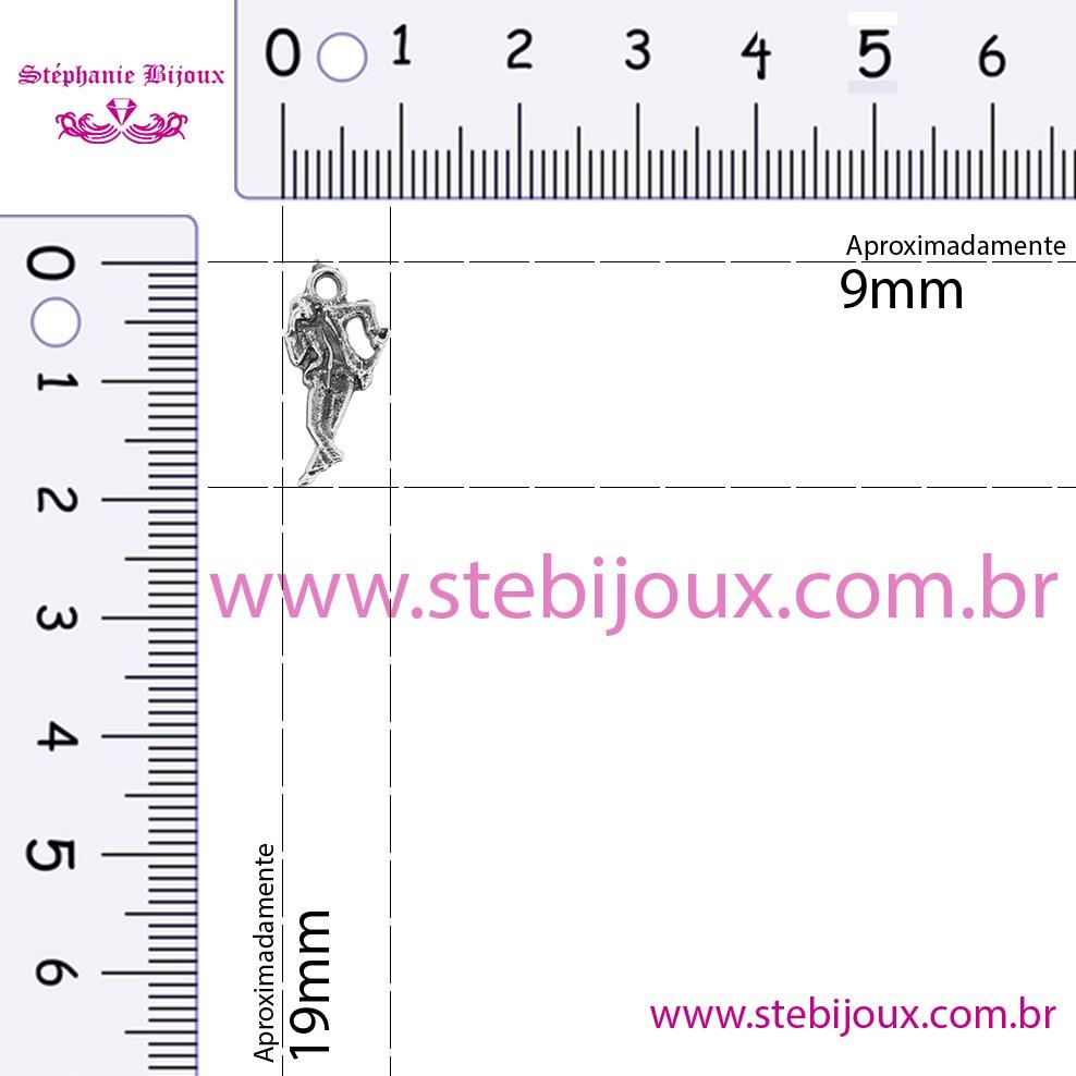 Zé Pilintra - Níquel Velho - 19mm  - Stéphanie Bijoux® - Peças para Bijuterias e Artesanato