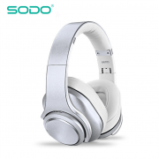 Fone SODO Mh10 Bluetooth Headphone Speaker 2 em 1 Prata