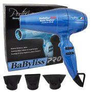 Secador de Cabelo Babyliss Pro Portofino 6600 Nano Titanium Azul 127V