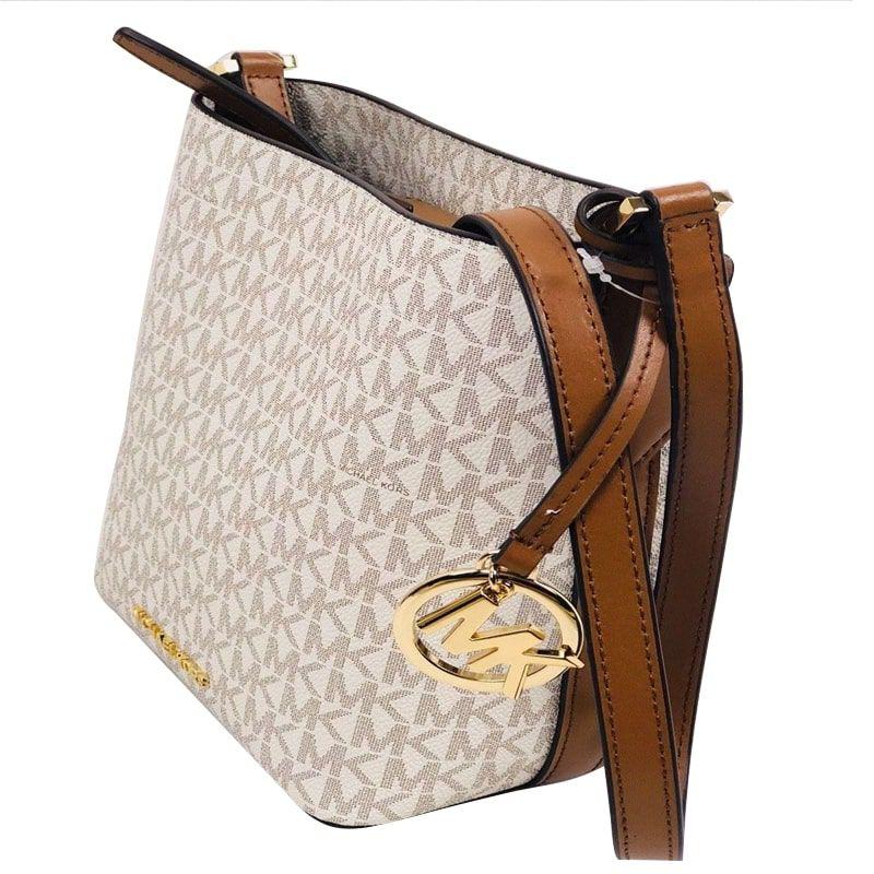 e1be61fb7 Bolsa Michael Kors Coleção Kimberly Bucket Bag Crossbody Vanilla
